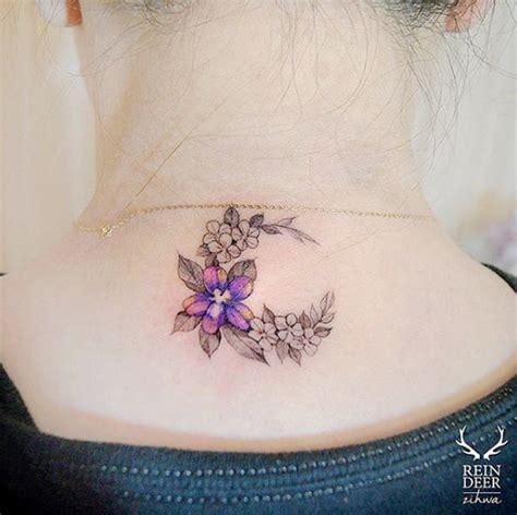 Flower Tattoos For Back Of Neck