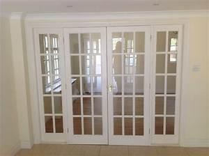 White 15 Glass Panel Internal French Doors  U0026 Frame 2 4m