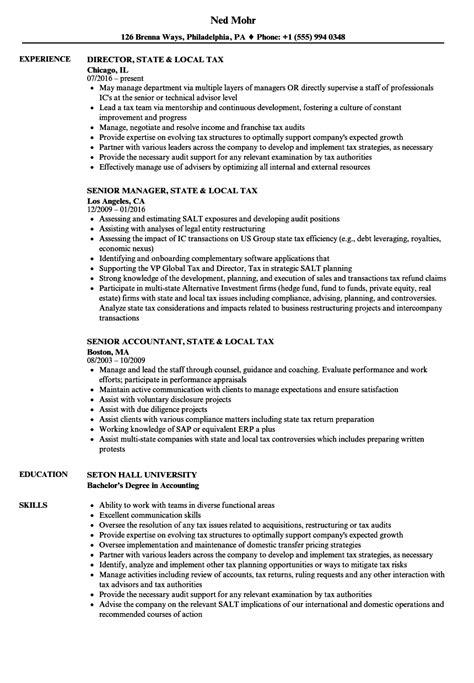 state local tax resume samples velvet jobs