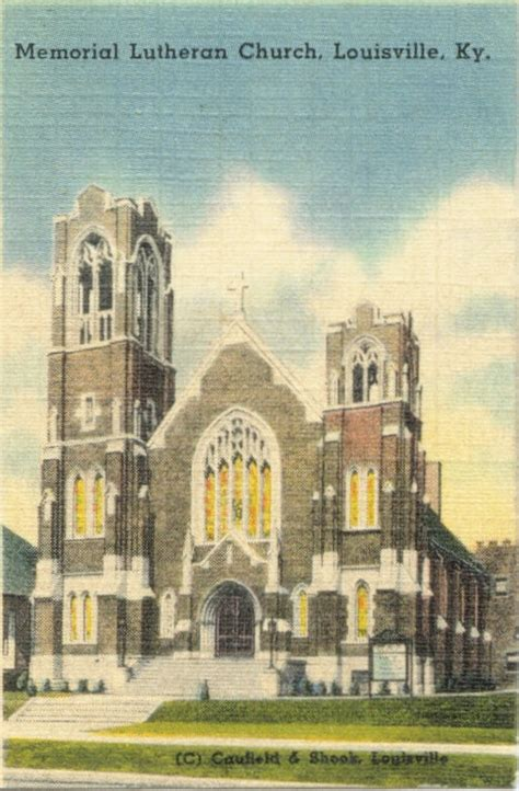 vintage post cards of louisville memorial lutherian church