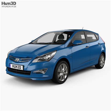 Hyundai Vehicles 2014 by Hyundai Verna Accent 5 Door Hatchback 2014 3d Model