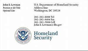 Cobra printing productions dhs business cards for Homeland security business cards