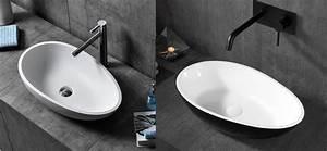 Aufsatzwaschbecken 60 Cm : aufsatzwaschbecken twa65 aus mineralguss pure acrylic in wei oder schwarz 60x35x16cm ~ Indierocktalk.com Haus und Dekorationen