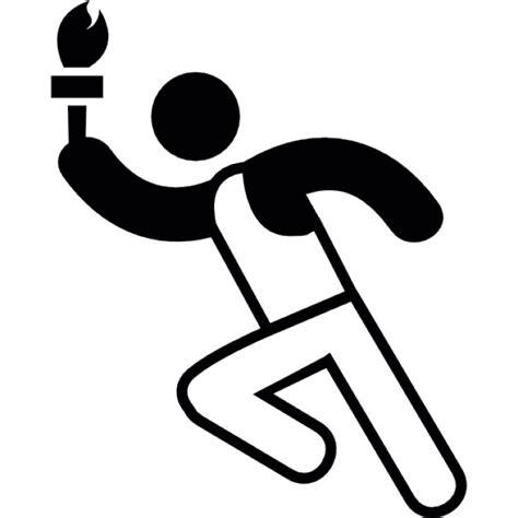 coureur avec la torche olympique 224 la t 233 l 233 charger icons gratuitement