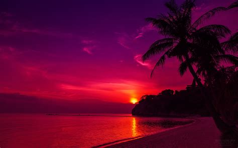 Windows 10 Abstract Wallpaper Thailand Beach Sunset Wallpapers Hd Wallpapers Id 13404