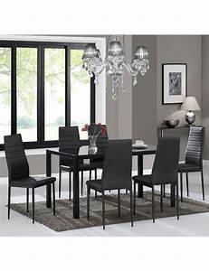 Table Et Chaise De Salle A Manger : set de salle manger moderne 1 table et 6 chaises ~ Teatrodelosmanantiales.com Idées de Décoration