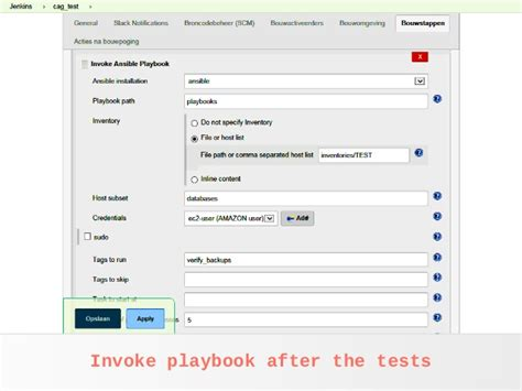 ansible invoke j2 template variable testing with ansible