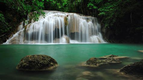 Erawan Falls Thailand Hd Wallpaper