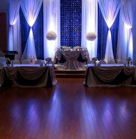 Elegant royal blue wedding backdrops by Mega City Group #