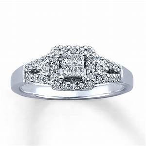 sterlingjewelers diamond engagement ring 1 3 ct tw 10k With 10k white gold wedding ring