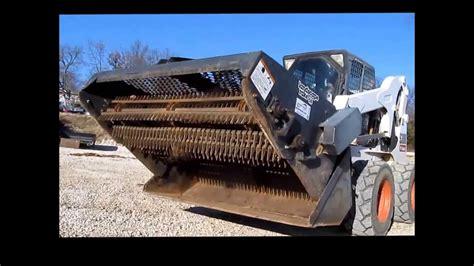 bobcat lrb landscape rake  sale sold  auction december   youtube