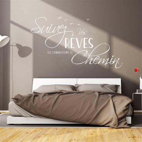 carrelage cuisine murale sticker citation design suivez vos rêves stickers citations français ambiance sticker