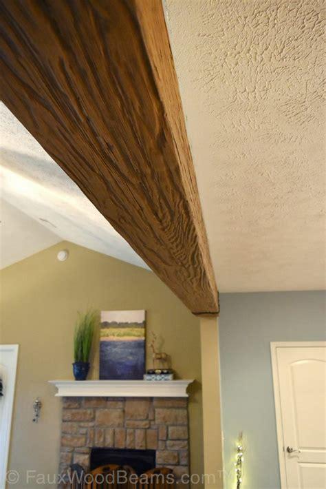 cased opening trim   ceiling beam faux wood workshop