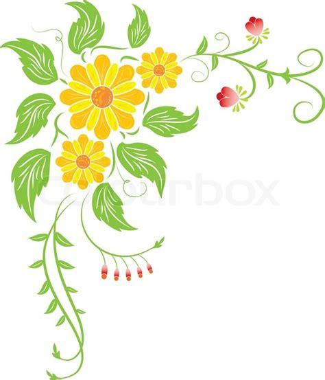 Blumenranke Grün Horizontal by Background Flower Illustration Stock Photo Colourbox