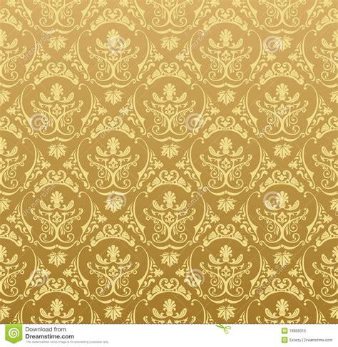 Seamless Wallpaper Background Floral Vintage Gold Royalty
