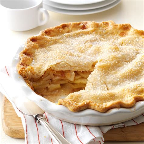 pie recipes apple pie recipe taste of home