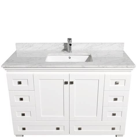 small sink vanity 48 48 quot acclaim single bath vanity white bathgems
