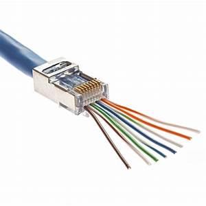 Fiche Rj45 Cat 6 : ez rj45 cat5e cat6 fully shielded connectors 100 pack ~ Dailycaller-alerts.com Idées de Décoration