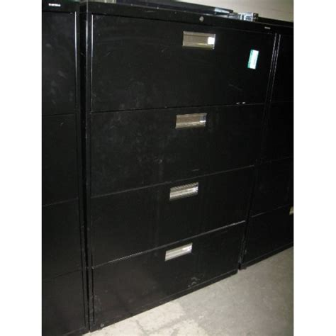 hon 4 drawer lateral file cabinet used hon 4 drawer lateral file cabinet black allsold ca buy