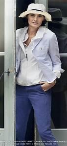 Ines de la Fressange Bleu Blanc striped linen jacket