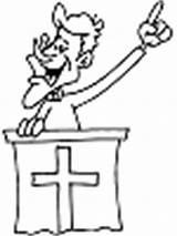 Coloring Preacher Pages Printable Read Cdkenterprises sketch template
