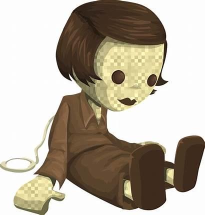 Doll Clipart Toy Creepy Clip Cliparts Vectors