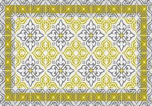 Set De Table Carreau De Ciment : set de table carreaux de ciment jos phine jaune curry ~ Teatrodelosmanantiales.com Idées de Décoration