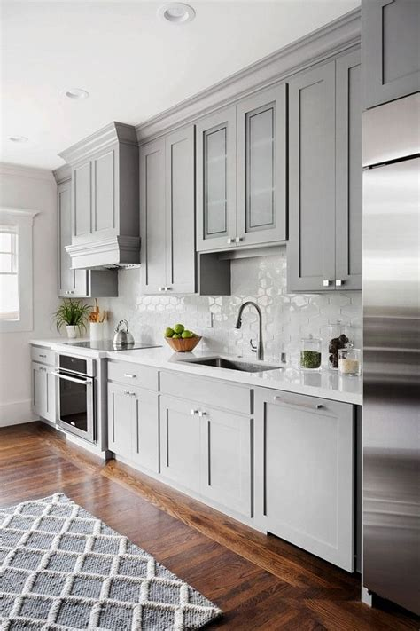 Gray Kitchen Cabinets Pinterest