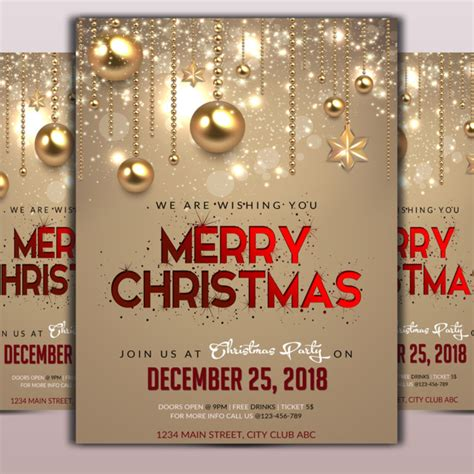 christmas flyer png vector psd  clipart