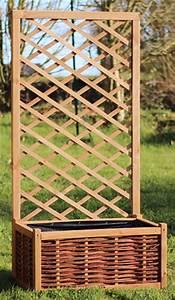 Jardinière Avec Treillage : bac jardiniere et treillis en pin fsc mobilier de jardin ~ Melissatoandfro.com Idées de Décoration