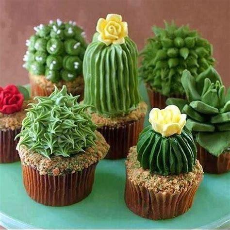 cupcakes  forma de cactus labioguia baking doces