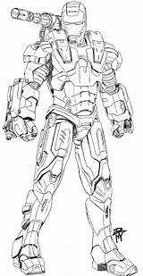 War Coloring Machine Pages Drawing Warmachine Ironman Iron Man Marvel Drawings Avengers Print Printable Draw Sketches Looking Colouring Sheets Deviantart sketch template