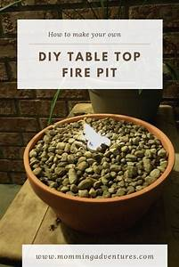 Diy, Table, Top, Fire, Pit