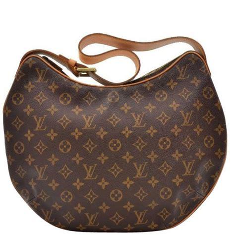 louis vuitton vintage canvas croissant gm handbag womens