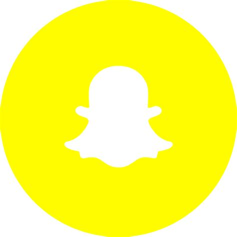snapchat  icon  circle social media social