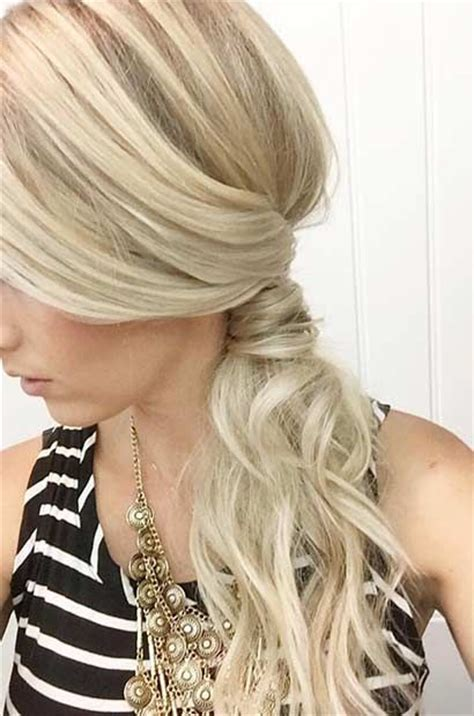 side ponytail hairstyles ideas  pinterest
