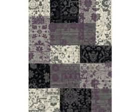lila paars vintage vloerkleed vloerkleed patchwork zwart grijs lila 160x230 cm kopen bij