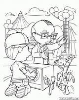 Coloring Park Hide Amusement Seek sketch template