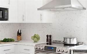 white kitchen backsplash white cabinet marble mosaic With 2 top design concepts for white tile backsplash