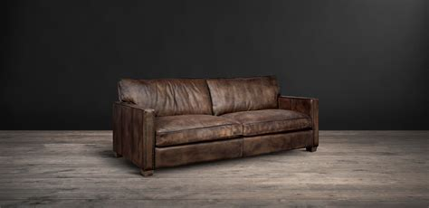 vintage leather sofas viscount william the classic leather sofa timothy oulton 3238