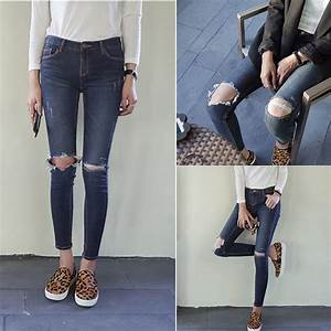 Ripped Hole Jeans - Is Jeans