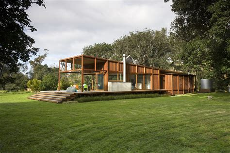 great barrier island sustainable house surrounded