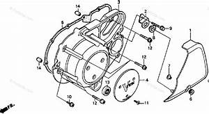 Honda Motorcycle 1988 Oem Parts Diagram For Left Crankcase