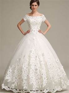 ball gown off the shoulder applique floor length wedding With tb wedding dresses