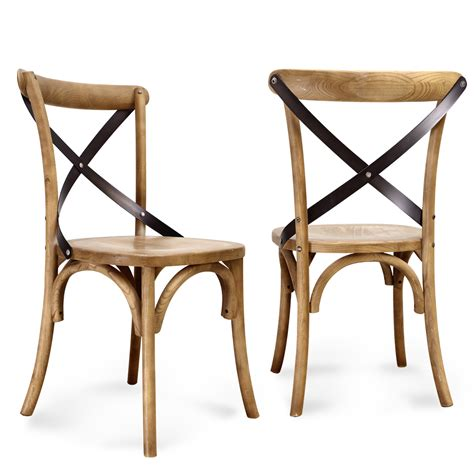 joveco vintage style solid wood dining chair set of 2