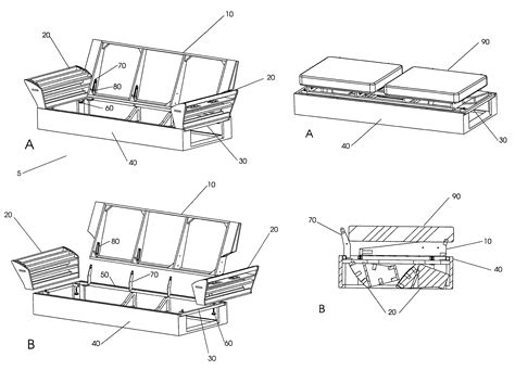 ready to assemble sofa patent us7744162 ready to assemble sofa and method for
