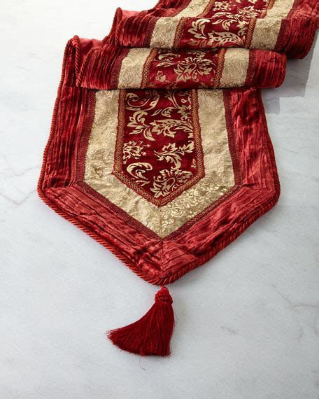 divine designs burgundygold velvet table runner