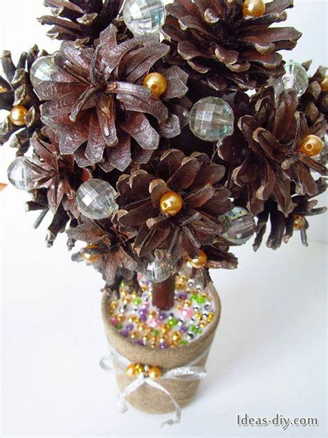 DIY Pine Cone Topiary   DIY: Christmas   Pinterest   DIY