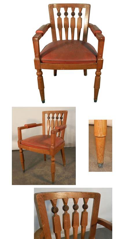 fauteuil bureau ad 8513 fauteuil de bureau de style deco en chene et