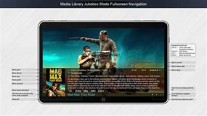 Zoom Player Max Software Screenshot Jukebox Tablet